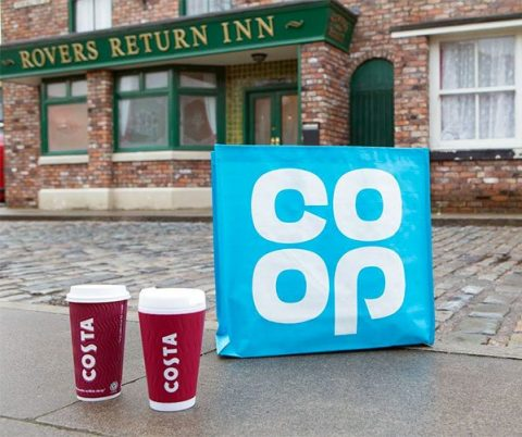 Coronation Street with Co-op and Costa Coffee - photo: ITV Media
