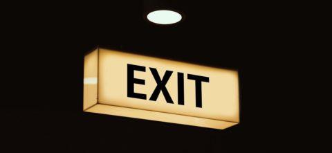 Exit sign - Pixabay.com