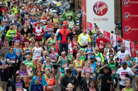 Runners leaving the Red Start in Greenwich Park. Photo: Photo: Jed Leicester for Virgin Money London Marathon