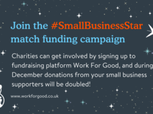 Work for Good to double donations in #SmallBusinessStar Christmas campaign