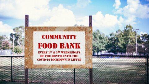 Community Food Bank sign