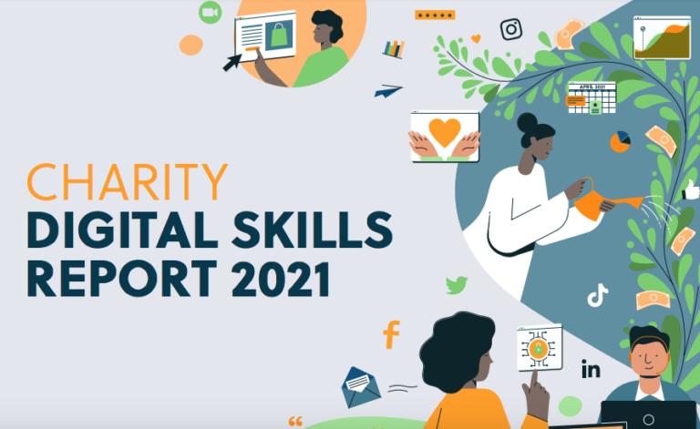 Cover of Charity Digital Skills Report 2021